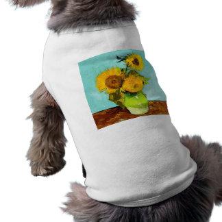 フィンセント・ファン・ゴッホつぼの3つのヒマワリ ペット服