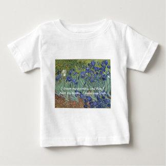 フィンセント・ファン・ゴッホのアイリス及び夢の引用文 ベビーTシャツ