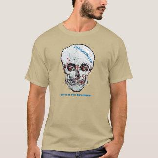 フィンセント・ファン・ゴッホのスコットランドの独立スカルのティー Tシャツ