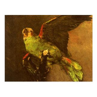 フィンセント・ファン・ゴッホのヴィンテージのファインアート著緑のオウム ポストカード