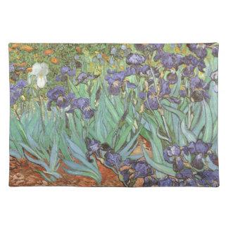フィンセント・ファン・ゴッホのヴィンテージの花の芸術著アイリス ランチョンマット