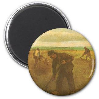 フィンセント・ファン・ゴッホのヴィンテージの芸術著植わるポテト マグネット