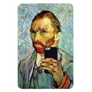 フィンセント・ファン・ゴッホの携帯電話のSelfieの自画像 マグネット