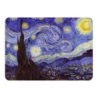 フィンセント・ファン・ゴッホの星明かりの夜ヴィンテージのファインアート カード