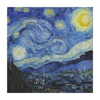フィンセント・ファン・ゴッホの星明かりの夜ヴィンテージのファインアート キャンバスプリント