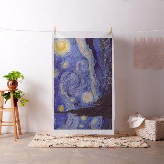 フィンセント・ファン・ゴッホの星明かりの夜ヴィンテージのファインアート ファブリック
