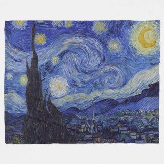 フィンセント・ファン・ゴッホの星明かりの夜ヴィンテージのファインアート フリースブランケット