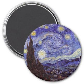 フィンセント・ファン・ゴッホの星明かりの夜ヴィンテージのファインアート 冷蔵庫用マグネット