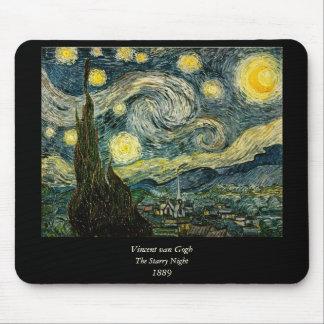 フィンセント・ファン・ゴッホの星明かりの夜(1889年) マウスパッド