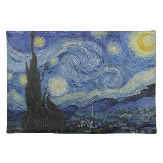 フィンセント・ファン・ゴッホの星明かりの夜MoJoのランチョンマット ランチョンマット