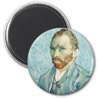 フィンセント・ファン・ゴッホの自画像の青 マグネット