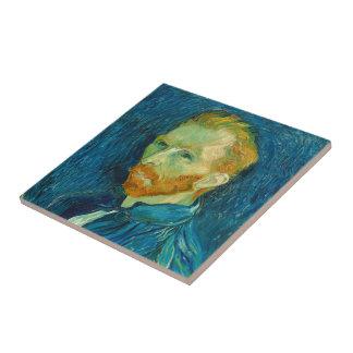 フィンセント・ファン・ゴッホの自画像の1889年の絵画 タイル