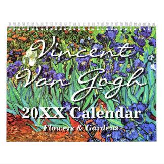 フィンセント・ファン・ゴッホの花及び庭のカレンダー カレンダー