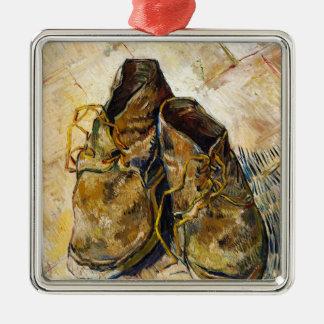 フィンセント・ファン・ゴッホの芸術の絵画靴 メタルオーナメント