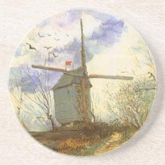 フィンセント・ファン・ゴッホの風車著Le Moulin Galette コースター