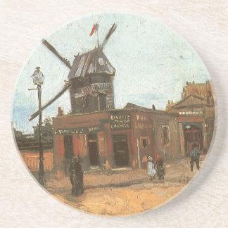 フィンセント・ファン・ゴッホの風車著Moulin de la Galette コースター
