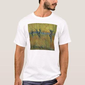 フィンセント・ファン・ゴッホの 刈り込まれたヤナギ、落日 Tシャツ
