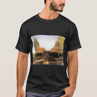 フィンセント・ファン・ゴッホのcollseはf48aヴィンチェンツォをv watermolen tシャツ