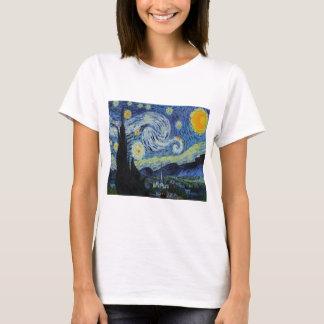 """フィンセント・ファン・ゴッホのTシャツ著""""星明かり夜""""の Tシャツ"""