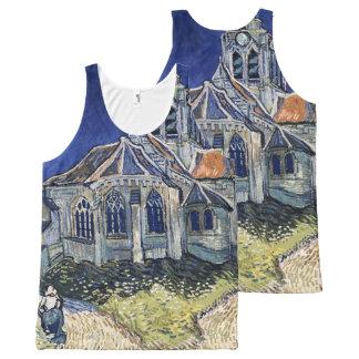 フィンセント・ファン・ゴッホを絵を描く教会Auvers-sur-Oise オールオーバープリントタンクトップ