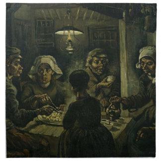 フィンセント・ファン・ゴッホポテトの食べる人の絵を描くこと。 芸術 ナプキンクロス