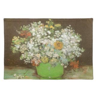 フィンセント・ファン・ゴッホ著ジニアそして花が付いているつぼ ランチョンマット