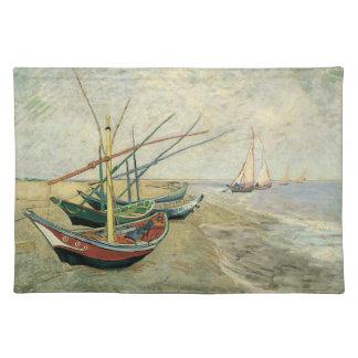 フィンセント・ファン・ゴッホ著ビーチの漁船 ランチョンマット