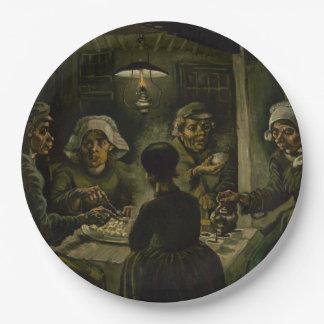 フィンセント・ファン・ゴッホ著ポテトの食べる人 ペーパープレート