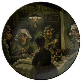 フィンセント・ファン・ゴッホ著ポテトの食べる人 磁器プレート