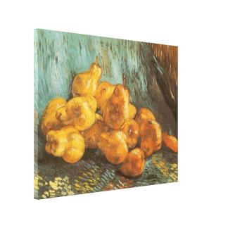 フィンセント・ファン・ゴッホ著マルメロのナシが付いている静物画 キャンバスプリント