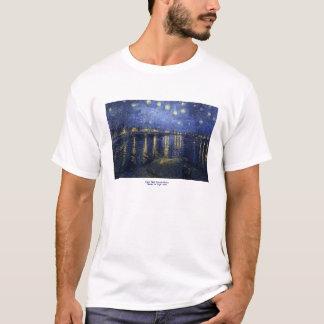 フィンセント・ファン・ゴッホ著ローヌ上の星明かりの夜 Tシャツ