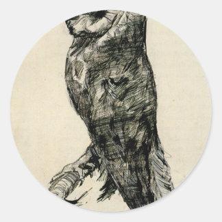 フィンセント・ファン・ゴッホ著側面から見られるメンフクロウ ラウンドシール