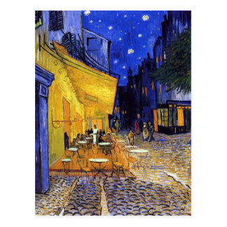フィンセント・ファン・ゴッホ著夜のカフェ台地 ポストカード