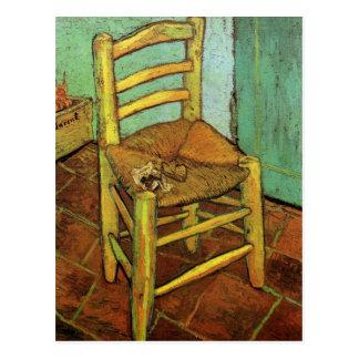 フィンセント・ファン・ゴッホ著彼の管が付いているヴィンチェンツォの椅子 ポストカード