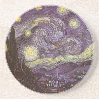 フィンセント・ファン・ゴッホ著星明かりの夜、ヴィンテージのファインアート コースター