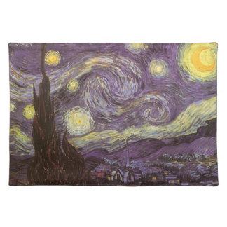 フィンセント・ファン・ゴッホ著星明かりの夜、ヴィンテージのファインアート ランチョンマット