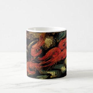 フィンセント・ファン・ゴッホ著静物画のムラサキ貝そしてエビ コーヒーマグカップ