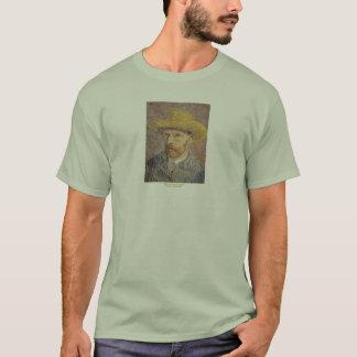 フィンセント・ファン・ゴッホ著麦わら帽子との自画像 Tシャツ
