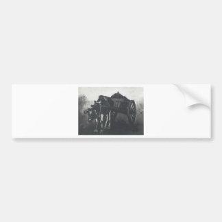フィンセント・ファン・ゴッホ著黒いウシが付いているカート バンパーステッカー