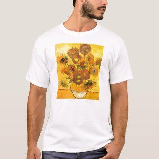 フィンセント・ファン・ゴッホ著15のヒマワリが付いているつぼ Tシャツ