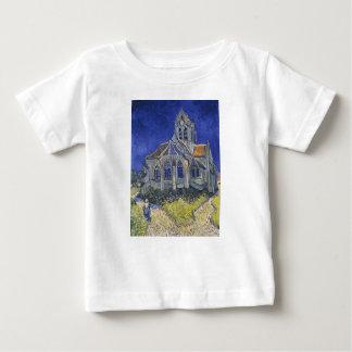 フィンセント・ファン・ゴッホ著Auversの教会 ベビーTシャツ