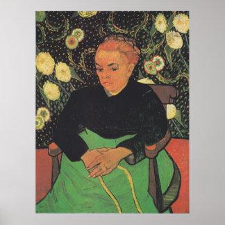 フィンセント・ファン・ゴッホ著La Berceuse (Augustine Roulin) ポスター