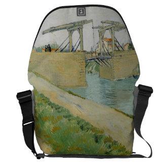 フィンセント・ファン・ゴッホ著Langloisの橋 メッセンジャーバッグ