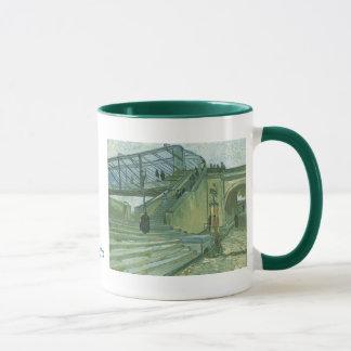 フィンセント・ファン・ゴッホ著Trinquetaille橋 マグカップ