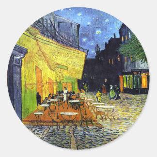 フィンセント・ファン・ゴッホ1888年著夜のカフェ台地 ラウンドシール
