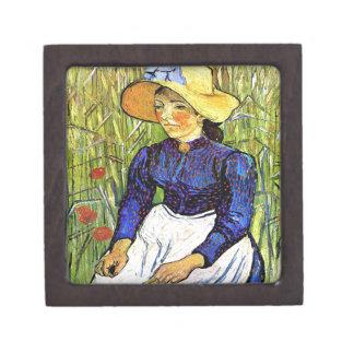 フィンセント・ファン・ゴッホ1890年著若い小作農の女の子 ギフトボックス