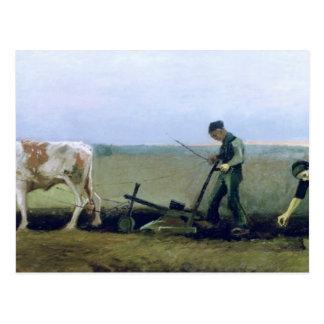 フィンセント・ファン・ゴッホ|の労働者および小作農に植わること ポストカード