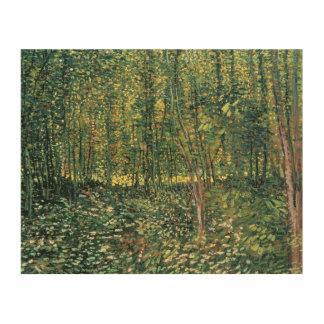 フィンセント・ファン・ゴッホ|の木および下草1887年 ウッドウォールアート