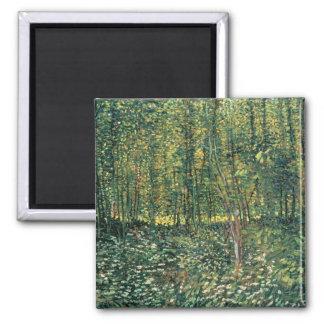 フィンセント・ファン・ゴッホ|の木および下草1887年 マグネット