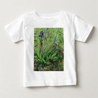 フィンセント・ファン・ゴッホ-アイリス自然恋人のファインアート ベビーTシャツ